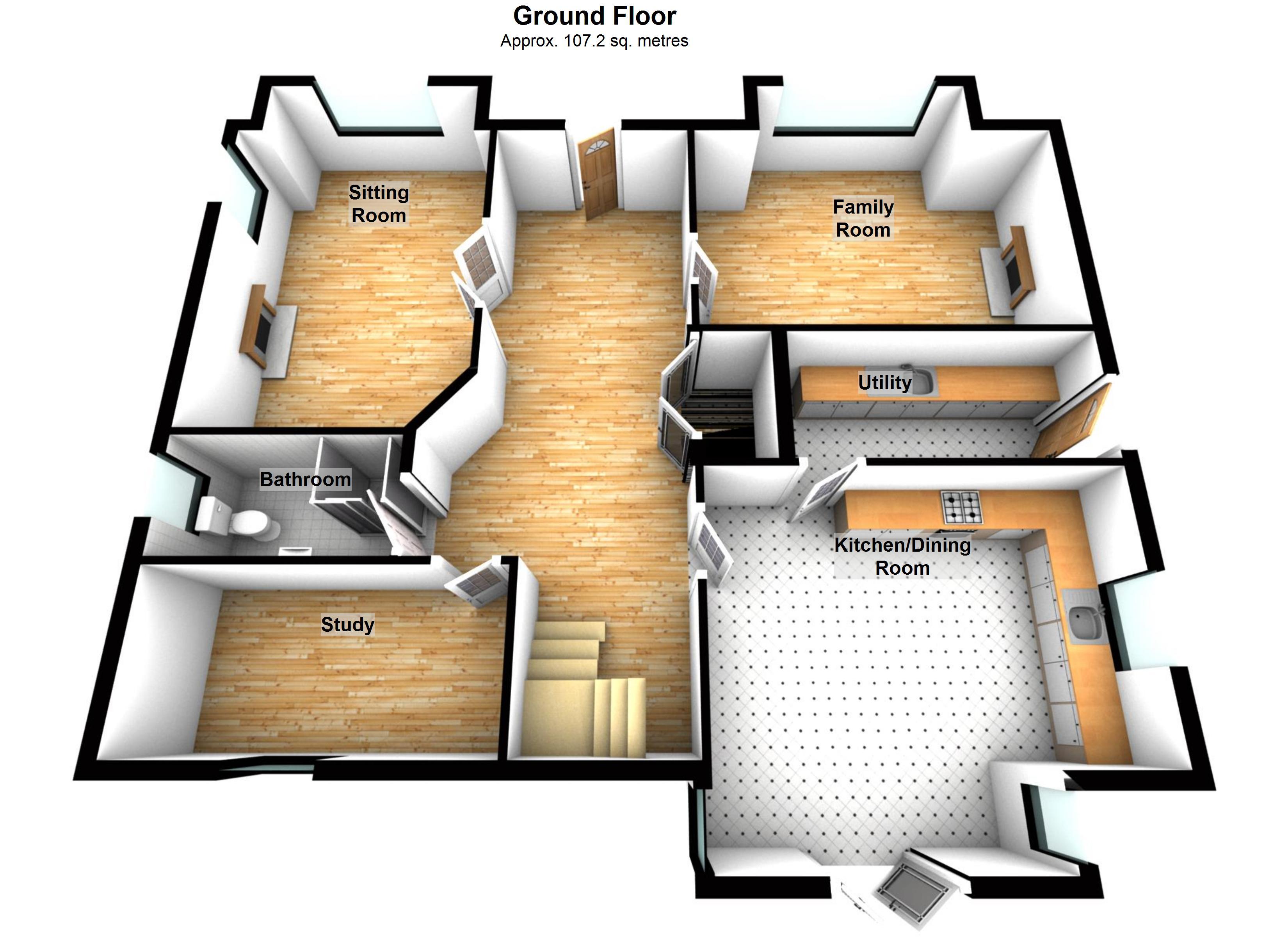 19 3d floor plan of the alcatraz floor plan oblongk for Free sample floor plans